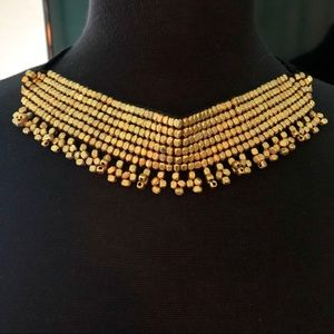 EXOTIC BRASS BEADS CHOKER NECKLACE FROM INDIA NWT